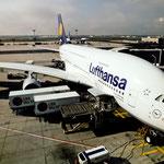 Unser Jungfernflug mit dem Airbus A380 von FRA nach SFO