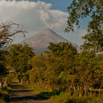 "Am Abend hat sich ""Volcan de Fuego"" zum ersten Mal gezeigt....."