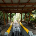 """...vom Aussichtsberg """"Parque Metropolitan de Santiago"""" kann man mit der Zahnradbahn runter fahren..."""