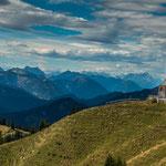 Blick vom Wallberg auf die Alpen...