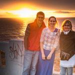 ...unser Abschied von Valparaiso mit einem schönen Sonnenuntergang.