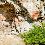 ....und alten Indianer Piktogrammen an den Felswänden