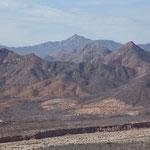Im Süden der Baja werden die Berge bis 2.000m hoch