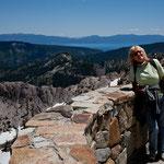 """im Hintergrund der """"Lake Tahoe"""""""