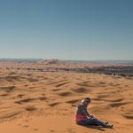 ...Rita alleine in der Wüste...