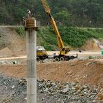 ......Bau von hohen Brückepfeilern für die neue MEX 40D - Null Sicherheit......