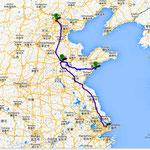 unsere Reiseziele: Shangjai, Jinan, Qingdao, Beijing....