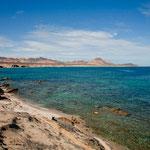 """azurblau und smaragdgrün ist das Wasser in der Bucht von """"Los Arbolitos"""""""