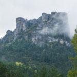 ...die wilden Cevennen - sind bis zu 1000m hoch...