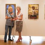 .....Erika und Rita in der Gemäldeausstellung im alten Rathaus