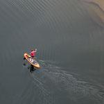 """...sogar im Oktober sind noch """"stand-up-paddler"""" unterwegs..."""