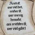 ....auch dieser Spruch hat mehr denn je Gültigkeit....