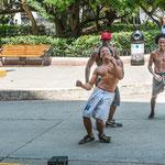 Diese hip-hop Tänzer waren genauso begeistert wie wir.....