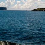 Dies ist der schmale Eingang vom Pazifik zum geschützten Hafen