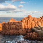Die berühmten roten Felsen von Arbatax