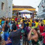 ....und am Ende feierte ganz Kolumbien den Einzug in die WM.