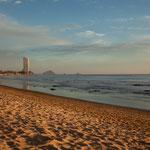 "der ""Playa Sabalo"" im goldenen Abendlicht"