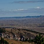 """Blick von den Bighorn Mountains in die """"Sheridan Ebene"""""""