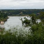 """Der Fluss """"Rio Iguazu"""" nach den Wasserfällen..."""