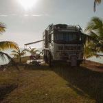 .....wir hatten unsere eigene kleine Halbinsel - auf 3 Seiten die Karibik....