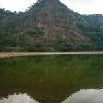 Der Vulkansee Laguna Alegria....