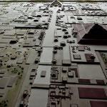 Modell der Stadt wie sie vor 1.500 Jahren ausgesehen hat