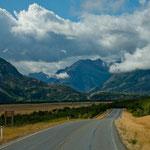 Berge des Waterton NP in Sicht