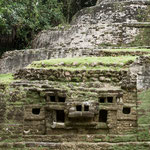....das Gesicht eines Jaguars - den die Mayas sehr verehrt haben.