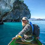 Mir dem eigenen Kanu hinzufahren bietet eine viel höhere Flexibilität in den Höhlen....