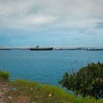 Die Bahia Limon mit dem Hafen Colon und Einfahrt zum Panama Kanal.....