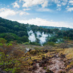 Der ganze Berghang am Vulkan ist voller Energie.....