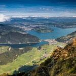 Vierwaldstättersee mit Blick auf Luzern...