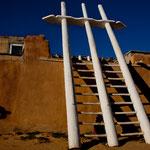Zugang zu einer Kiva - einem religiösen Ort der Indianer