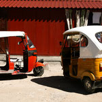 Indisch - mexikanisches Engineering: Rikscha mit VW-Käfer Dach