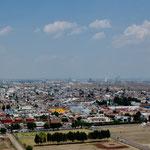 Blick von Cholula auf Puebla