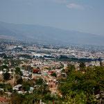Hier ein Blick von oben auf Oaxaca