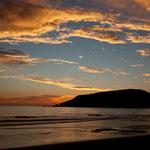 Beginn eines dramatischen Sonnenuntergangs.....