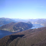 Monte Orsa (1000m) Veduta verso Nord (Lago di Lugano)