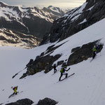 Steiler Gipfelanstieg mit ca. 400 Höhenmetern