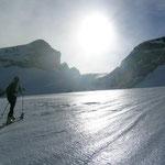 dann gehts dem Gletschermassiv entgegen