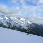 Tini als Schnittstelle, zwischen saftigen grün und dem Schnee