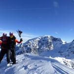 Berg Heil, wo wir uns gegen den Wind stemmen mussten