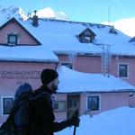 Stefan im Aufstieg über die Schaubachhütte...