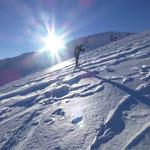Schnee vom Wind bearbeitet - Powder adee