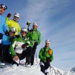 Gipfelfoto mit Gipfelschnaps von Welli