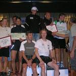 die drei Erstplatzierten der Teamwertung mit Schütz Walter, Schöpt Rudi, Niederegger Thomas und Franz