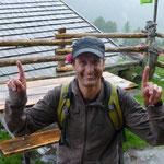 Trotz strömenden Regen freute sich Franz auf das bevorstehnde