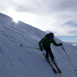 Tobi schulmäsig in Skilehrermäsiger paraleller Skiführung