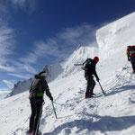 Der Gipfel immer näher