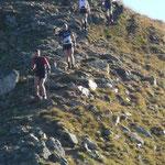 Abstieg, bevor es auf den technisch schwierigsten Teilstück, die Furkelspitz ging....